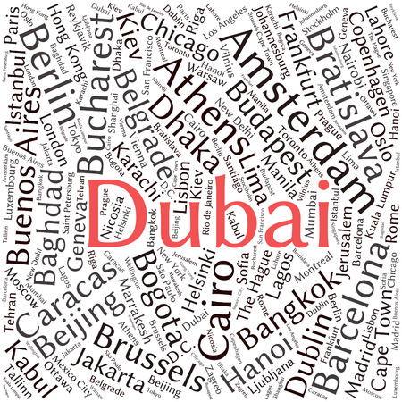 frankfurt: Cities in the World related word cloud background