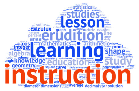 decimal: Shapes and vocabulary, math tag word cloud background