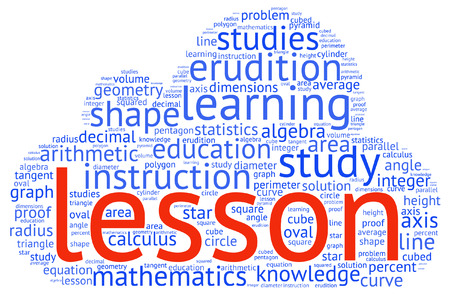 erudition: Shapes and vocabulary, math tag word cloud background