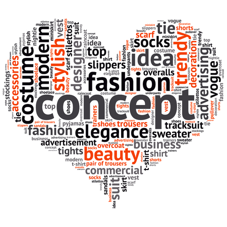 shoelace: fashion and costume tag word cloud background. Illustration
