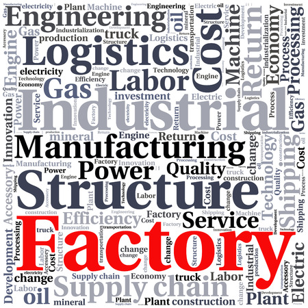text word: conceptual Industrial or Logistics text word cloud tagcloud