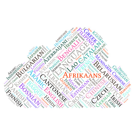 slovak republic: language  in the World related word cloud background