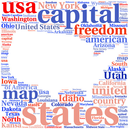 United States Of America Political Map Royalty Free Cliparts - Usa state map with capitals