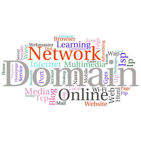 gprs: Concept or conceptual abstract word cloud   as metaphor for internet, network, Website Illustration