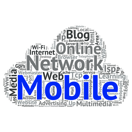 wap: Concept or conceptual abstract word cloud   as metaphor for internet, network, Website Illustration