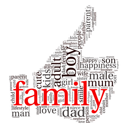 godfather: Family info-text graphics and arrangement concept (word cloud)
