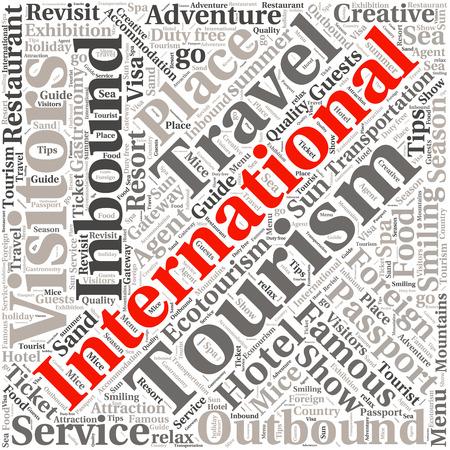 ecotourism: conceptual travel or tourism text word cloud tagcloud
