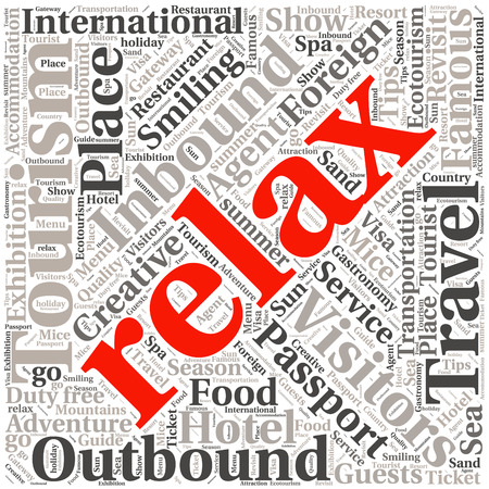 text word: conceptual travel or tourism text word cloud tagcloud