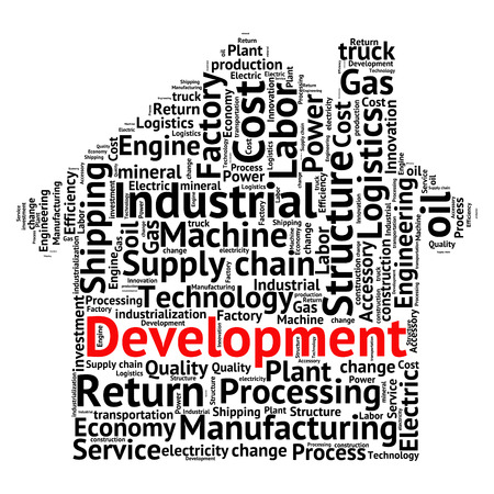 industrialization: conceptual Industrial or Logistics text word cloud tagcloud