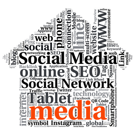 backlink: Concept or conceptual abstract word cloud Illustration