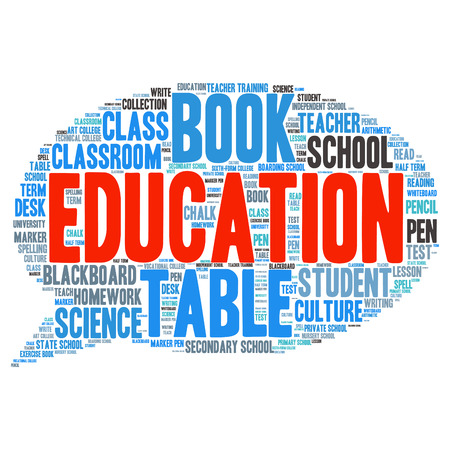 vocational training: words cloud related to Education and relevant