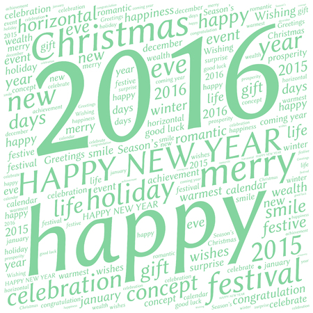 good s: Happy New Year 2016. Cloud of words