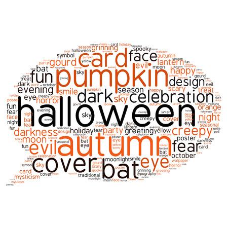 halloween words background vector stock vector 45489942