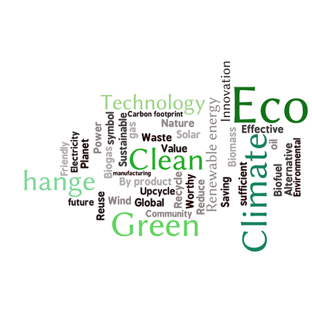 digne: Ecology Earth concept word collage. Environmental poster design template