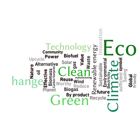 word collage: Ecology Earth concept word collage. Environmental poster design template