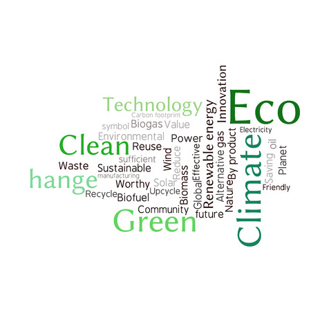 reduce: Ecology Earth concept word collage. Environmental poster design template
