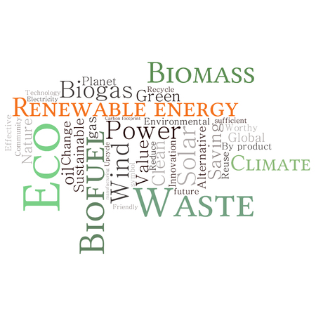 Ecology Earth concept word collage. Environmental poster design template