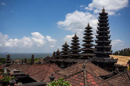 pura: Besakih complex Pura Penataran Agung ,Hindu temple of Bali, Indonesia Stock Photo