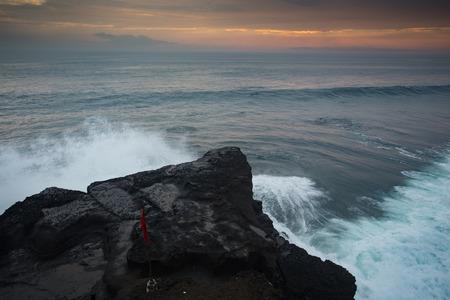 bali beach: Blue wave at sunset Bali Beach ,Indonesia
