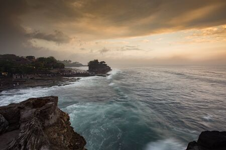 hindu temple: Tanah Lot Temple is a Hindu Temple set on the big rock