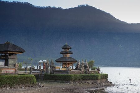danu: Pura Ulun Danu temple on a lake Beratan. Bali