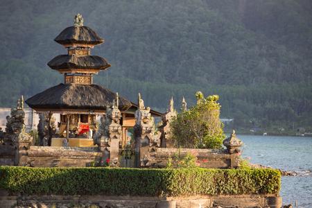 ulun: Pura Ulun Danu temple on a lake Beratan. Bali
