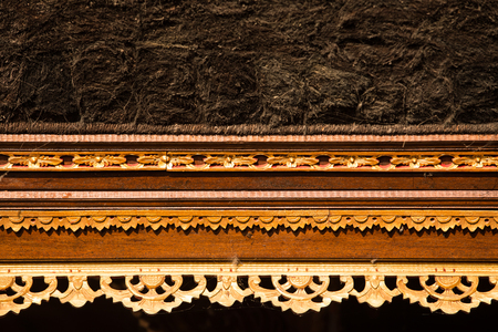 danu: Historic carving at Pura Ulun Danu Bratan Water Temple Bali, Indonesia Stock Photo