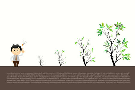 seedlings: Trees Vector Illustrate Growing