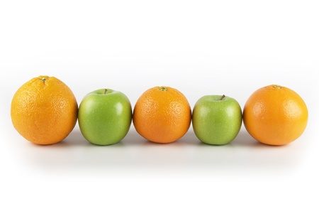 squeeze shape: five a day example:  oranges and apples