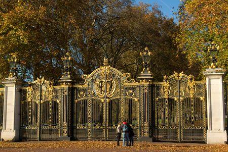 buckingham palace home of uk royal   Stock Photo