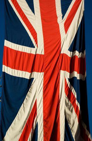 united kingdom flag with blue sky background