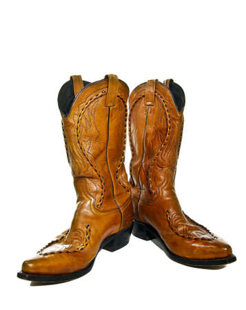 pair of leather cowboy boots wild west