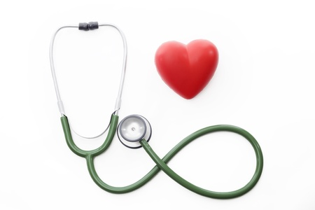 a stethoscope making the sign of infinity with a heart next