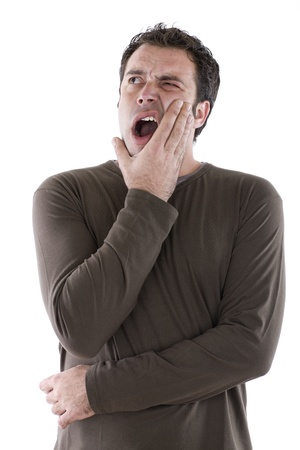 open-mouthed man complaining of toothache Stock Photo - 11472091