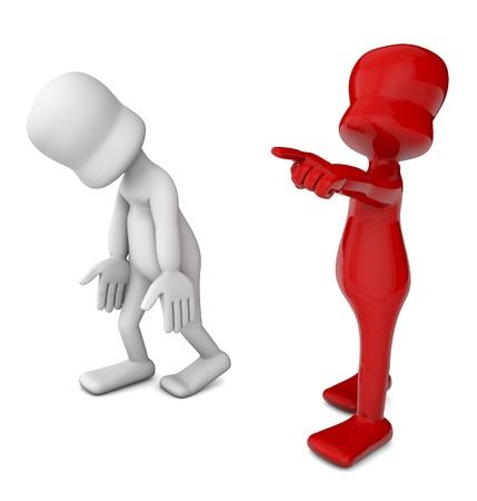 boss dismissing an employee, recreation of abuse work, school, gender etc     photo