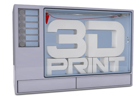 additive: 3D printer isolated on a white background  3D rendered