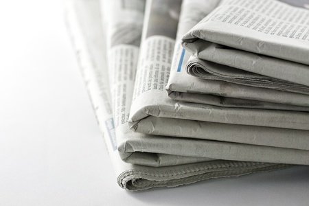 newspaper read: newspaper for information Stock Photo