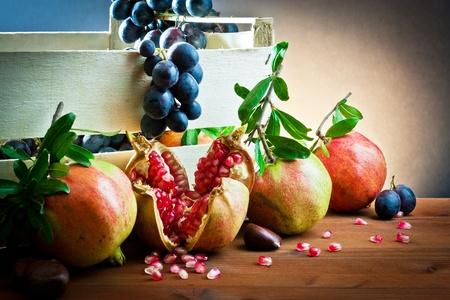 still life of autumnal foods  写真素材