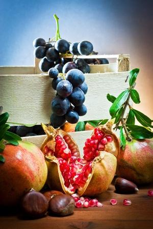 still life of autumnal foods  Standard-Bild