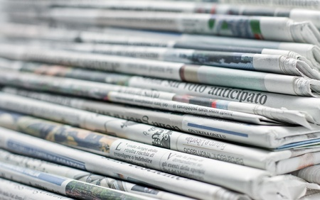 newspaper for information Standard-Bild