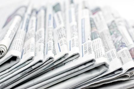 apilar: periódico de información Foto de archivo