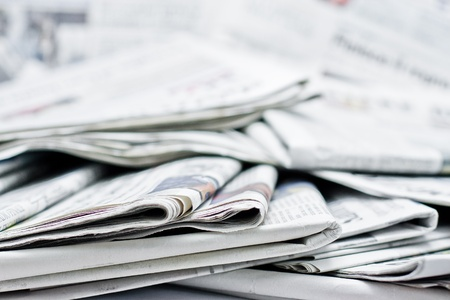 business news: newspaper for information Stock Photo