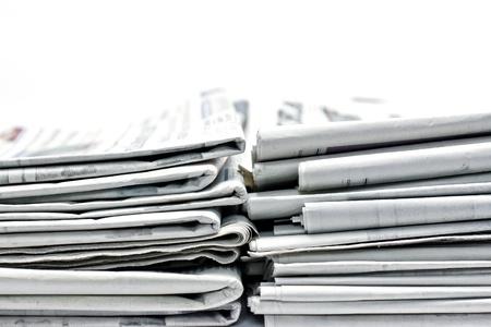 newspaper for information 写真素材
