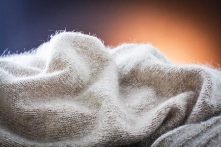 woolen cloth: curves of white woolen cloth