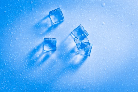 wet ice cubes  photo