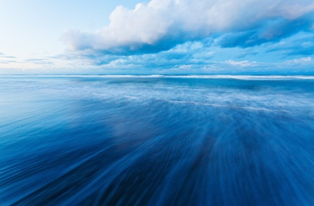calm down: long exposure to sea  Stock Photo