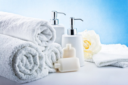 Bath accessories and thermal environment  Stock Photo - 12123053