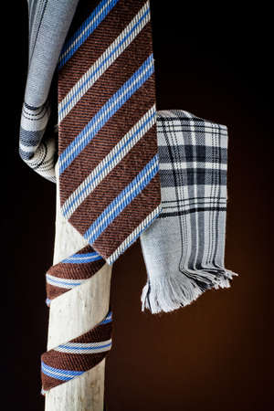 cane collars: cravat and scarf for man   Stock Photo