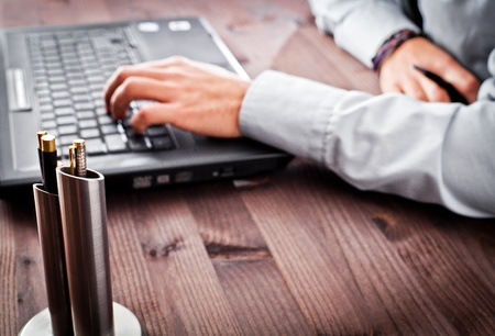 person in the office computer Standard-Bild