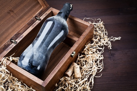 old bottle of wine  Stock Photo - 13523352